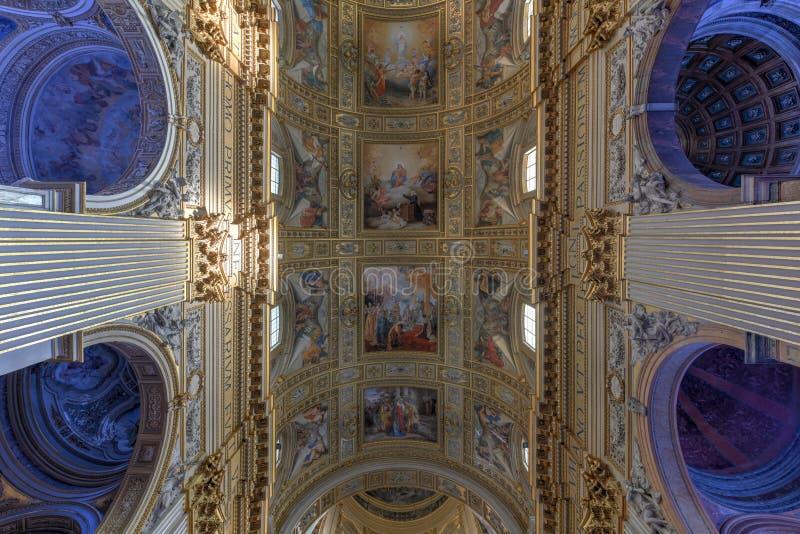 Basilika di Sant Andrea della Valle - Rome, Italien royaltyfri fotografi