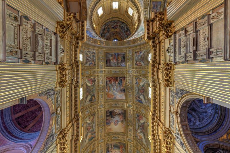 Basilika di Sant Andrea della Valle - Rome, Italien royaltyfri bild