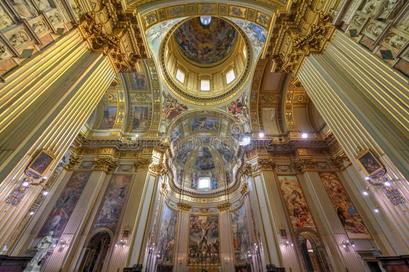 Basilika di Sant Andrea della Valle - Rome, Italien royaltyfria foton