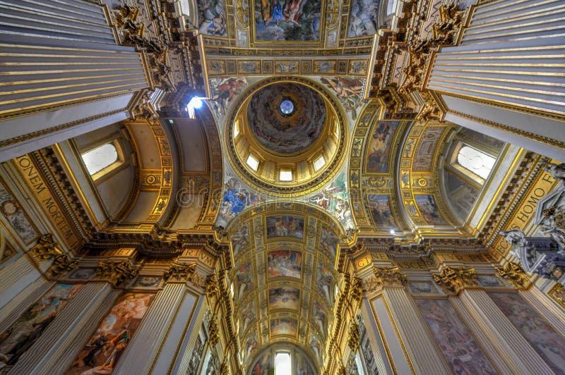 Basilika di Sant Andrea della Valle - Rome, Italien arkivbild