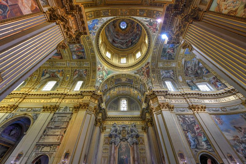 Basilika di Sant Andrea della Valle - Rome, Italien arkivbilder