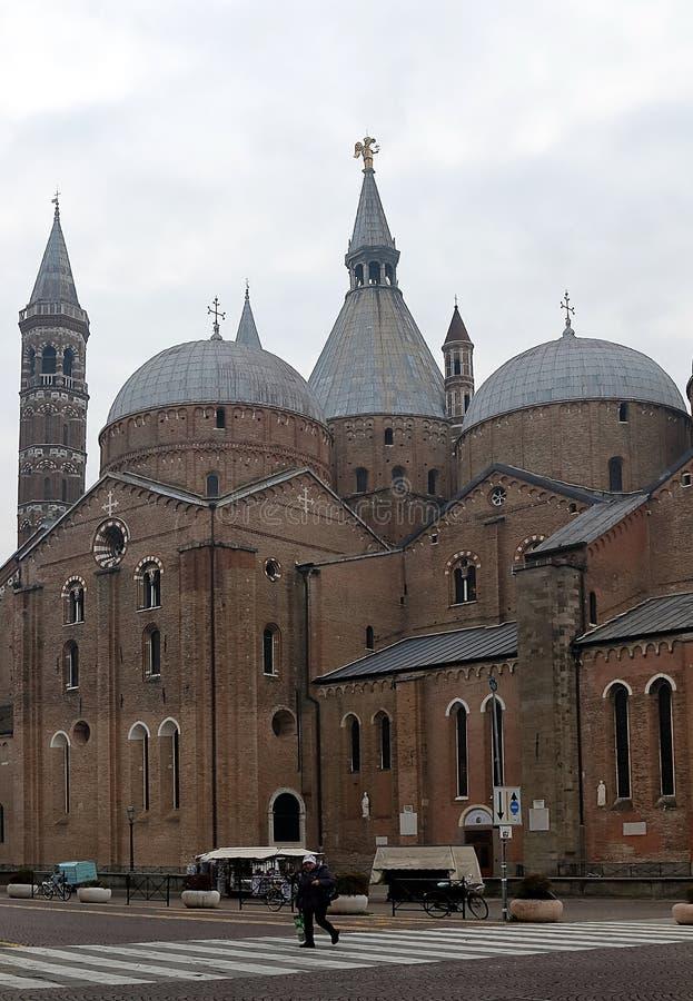 Basilika di Sant Antonio da Padova i Padua royaltyfri bild