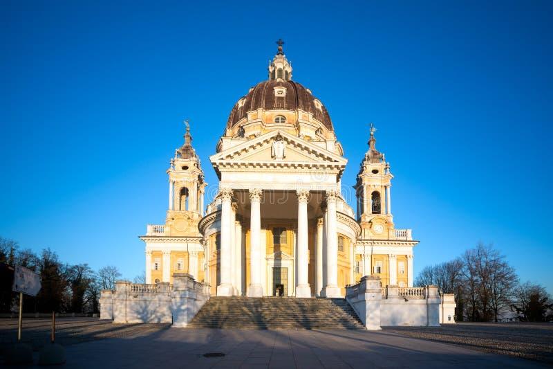Basilika di Superga Turin, Italien fotografering för bildbyråer