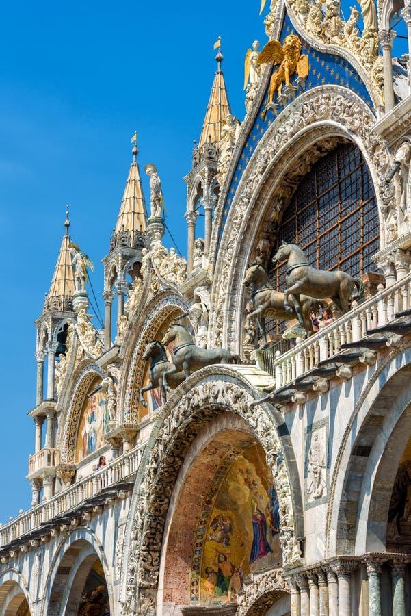 Basilika för St Mark ` s i Venedig royaltyfria bilder
