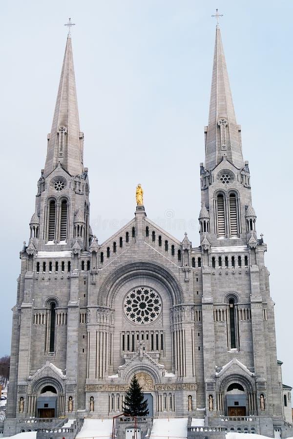 Basilika Heilige Anne de Beaupre Quebec lizenzfreies stockbild
