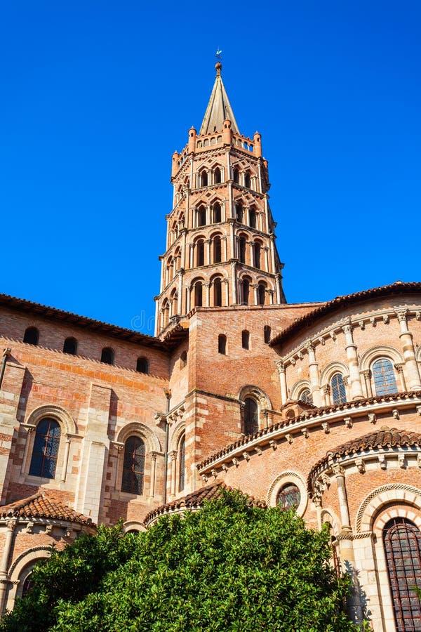 Basilika-Heiliges Sernin-Kirche, Toulouse stockbild