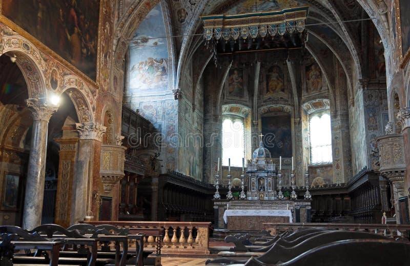 Basilika-Innenraum Str.-Pietro. Perugia. Umbrien. lizenzfreies stockbild