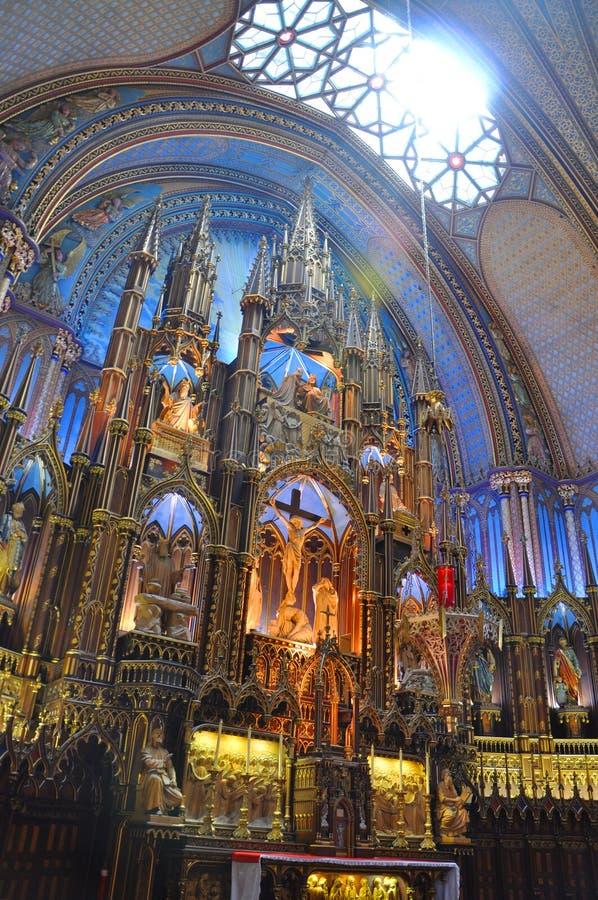 Basilika Montreal-Notre Dame lizenzfreies stockfoto