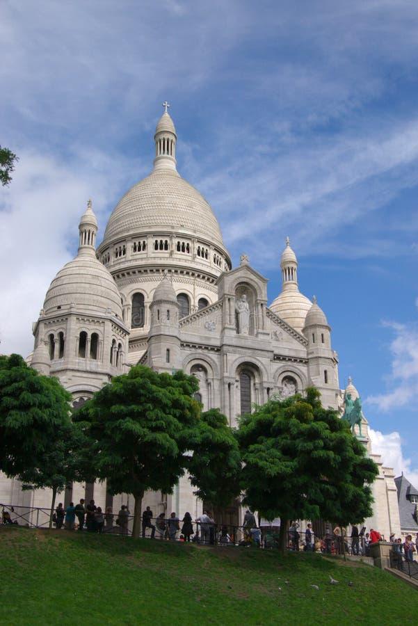 Basilika Sacré-Coeur von Paris stockfoto