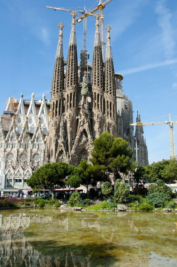Basilika Sagrada Familia - Barcelona - Spanien lizenzfreie stockfotografie
