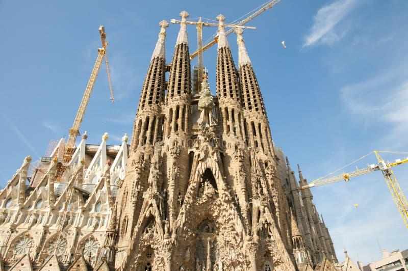 Basilika Sagrada Familia - Barcelona - Spanien stockbild