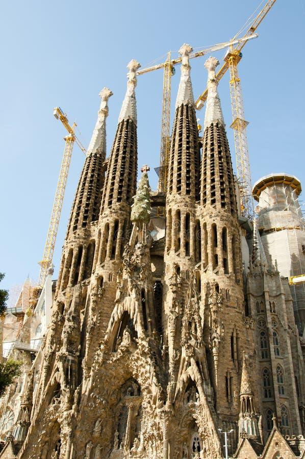Basilika Sagrada Familia - Barcelona - Spanien lizenzfreie stockbilder
