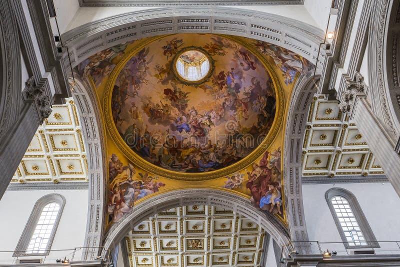 Basilika San Lorenzo, Florence, Italien arkivfoto