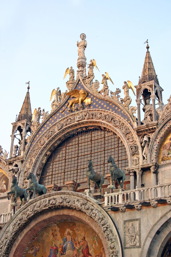 Basilika San Marco in Venedig lizenzfreies stockbild
