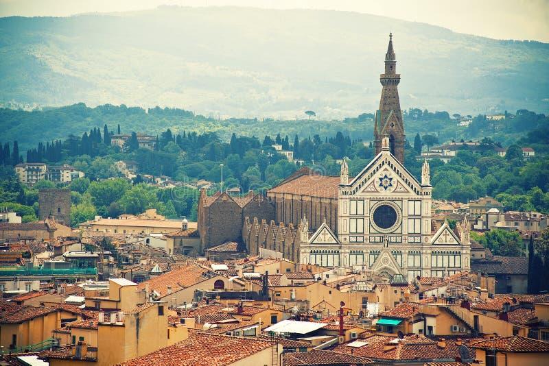Basilika Santa Croce, Florence royaltyfri fotografi