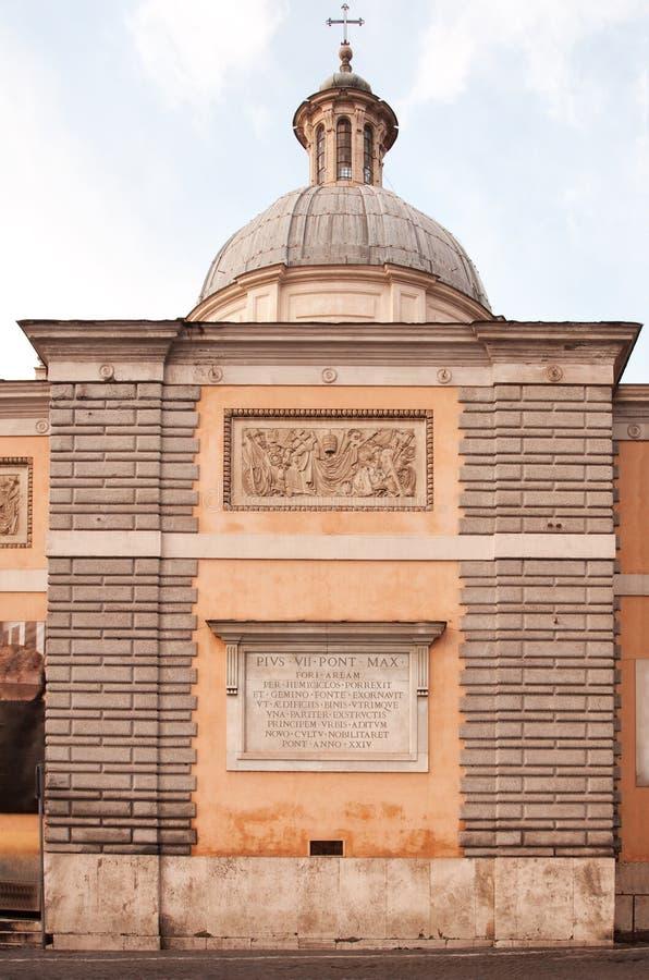 Basilika Santa Maria del Popolo, detalj, Rome royaltyfria bilder