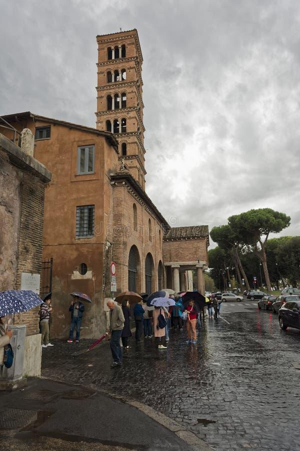 Basilika Santa Maria i Cosmedin, Rome arkivfoto