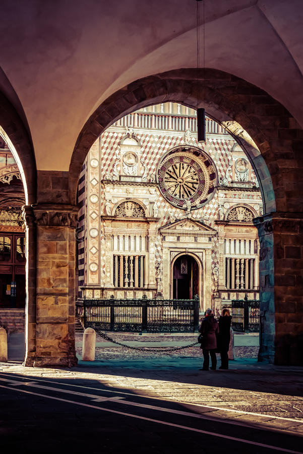 Basilika Santa Maria Maggiore - Bergamo royaltyfri fotografi