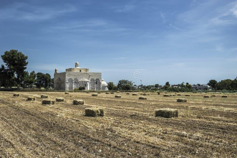 Basilika Siponto royaltyfri foto