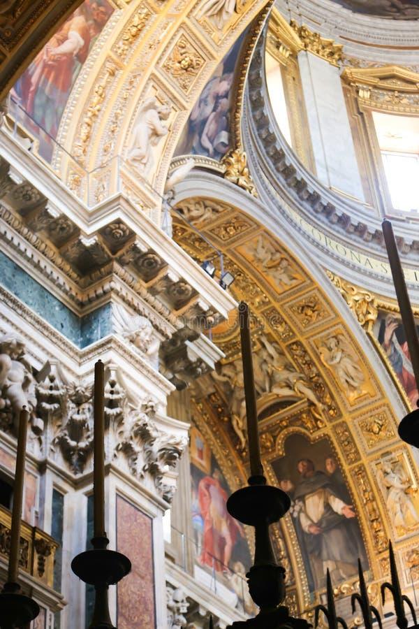 Basilika St. Petero, Vatikan stockbilder