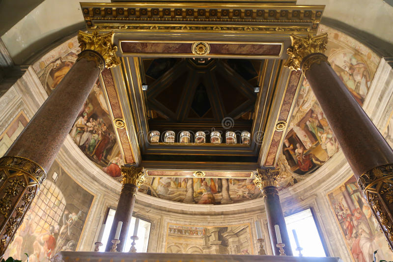 Basilika St. Petero, Vatikan stockbild