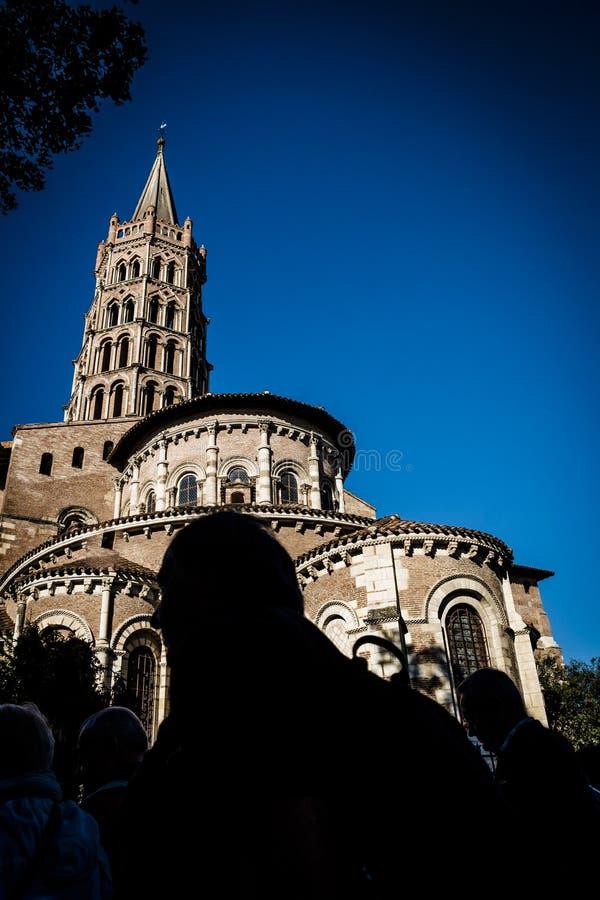 Basilika St. Sernin in Toulouse stockfotografie