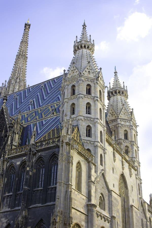 Basilika St- Stephenkathedralenwiens Österreich lizenzfreies stockbild