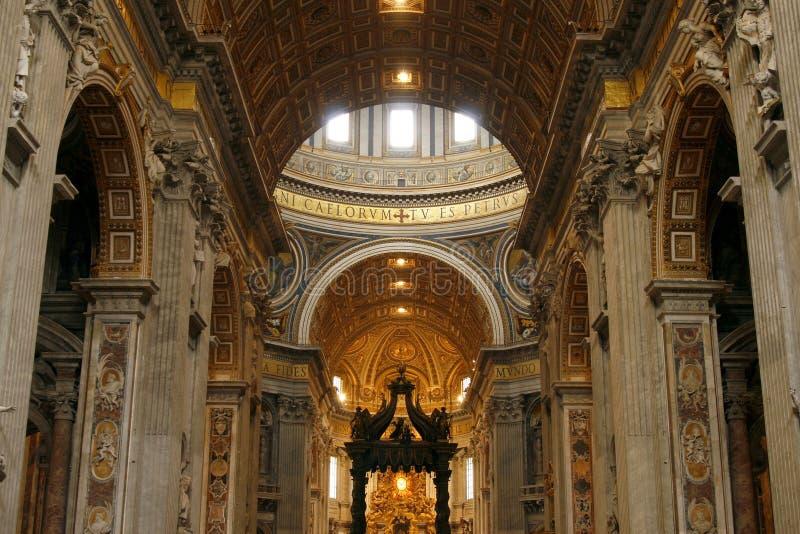Basilika Str.-Peters in Vatican, Rom, Italien lizenzfreie stockfotografie