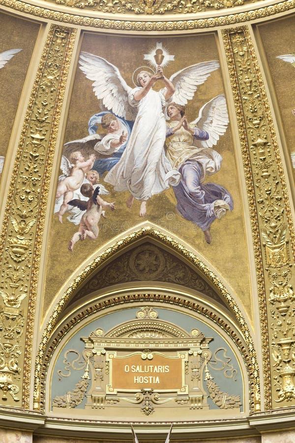 Basilika Str.-Stephens, Innenfresko lizenzfreie stockbilder