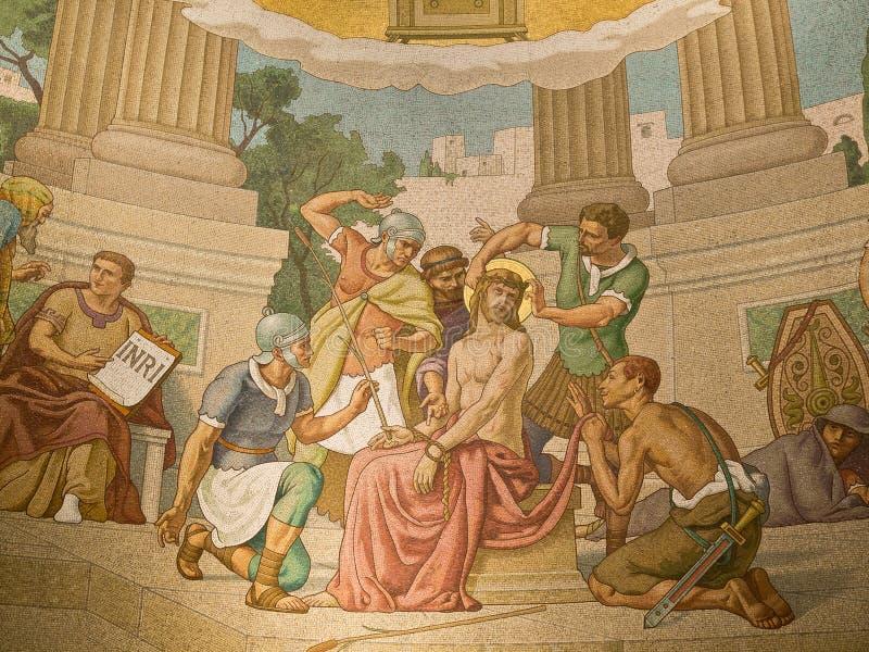 Basilika unsere Dame des Rosenbeetes stockbild