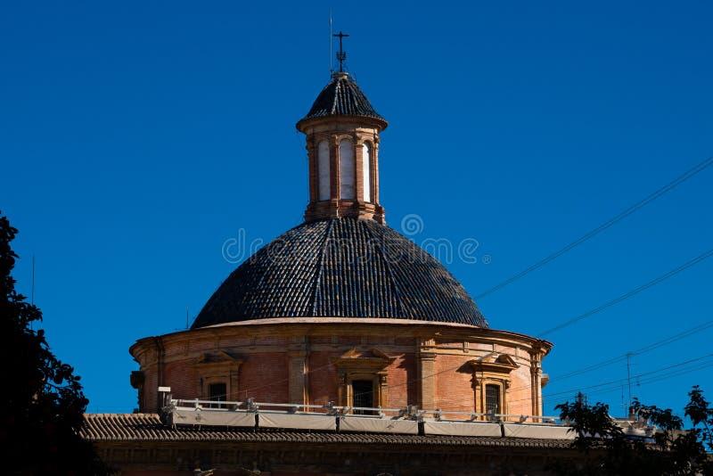 Basilika vår dam av den lämnade kvar Nuestraen Senora de los Desamparados arkivbild