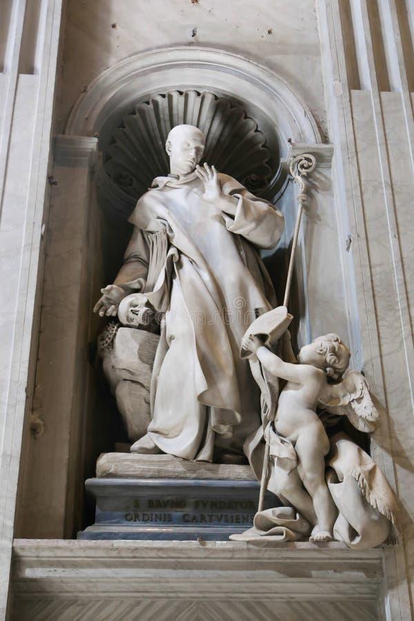 Basilika - Vaticanen, Italien royaltyfri fotografi
