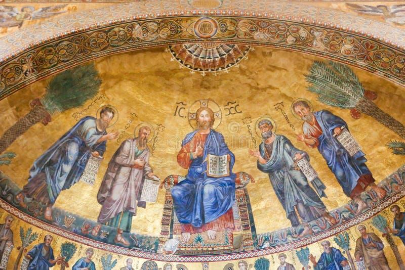 Basilika - Vaticanen, Italien arkivbild
