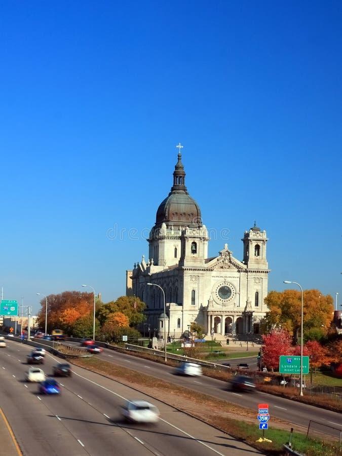 Basilika von Heiligem Mary in Minneapolis lizenzfreies stockfoto