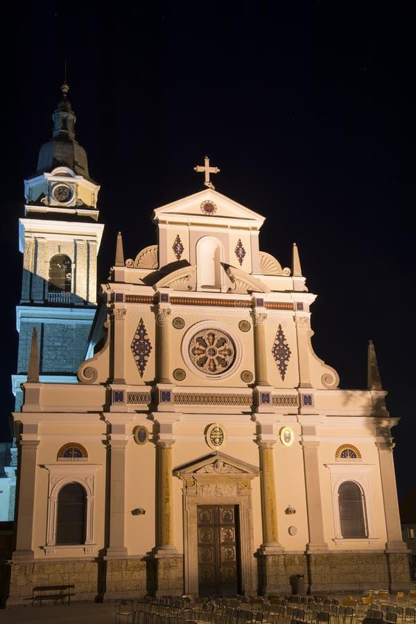 Basilika von Mary Help von Christen - Brezje lizenzfreie stockbilder