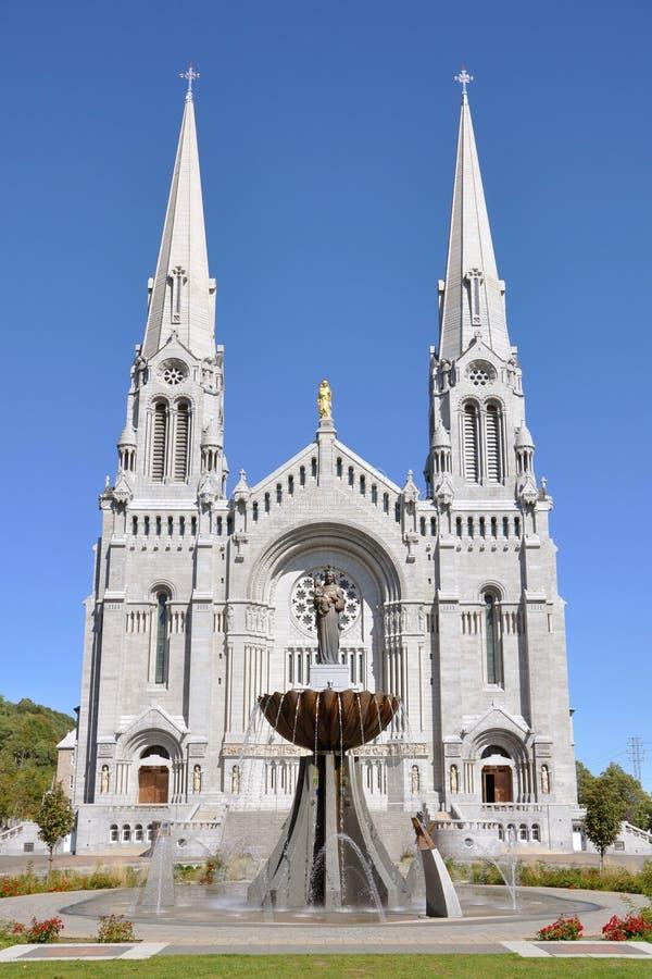 Basilika von Sainte-Anne-De-Beaupre, Quebec stockfotografie