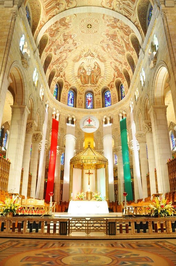 Basilika von Sainte-Anne-De-Beaupre, Quebec lizenzfreies stockfoto