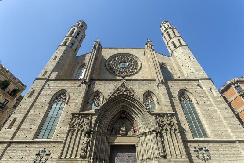 Basilika von Santa Maria del Mar stockbild