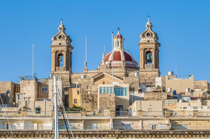 Basilika von Senglea in Malta. stockbild
