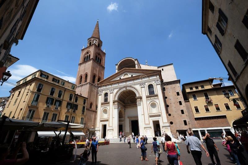 Basilika von St Andrew in Mantua, Italien lizenzfreies stockfoto