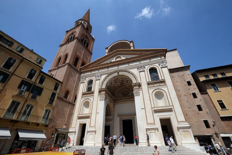 Basilika von St Andrew in Mantua, Italien stockfoto