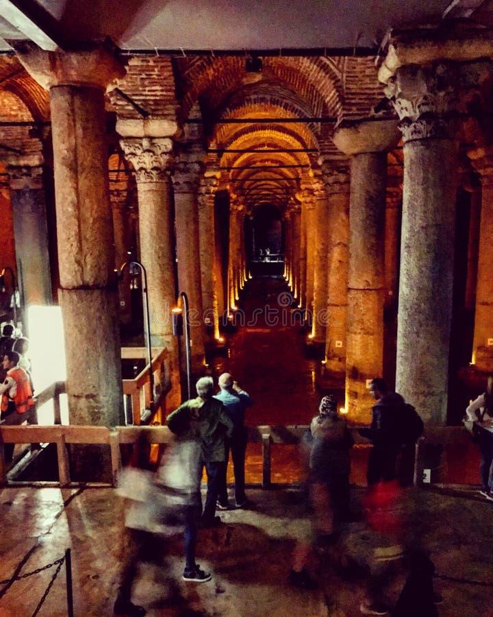 Basilika-Zisterne Istanbul stockfotos