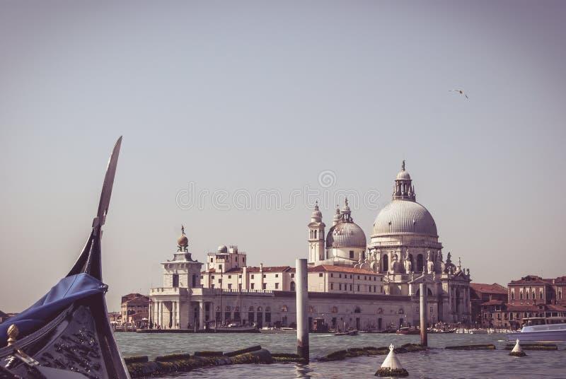 Basilikaansicht von der Gondel, Venedig stockfotografie