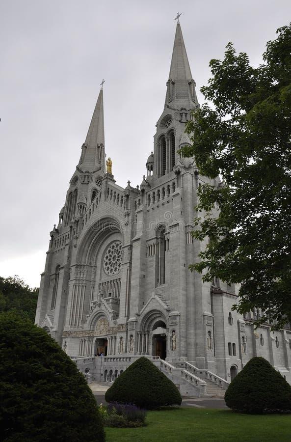 Basilikac$anne-de--c$baupregebäude von Quebec-Provinz in Kanada stockbilder