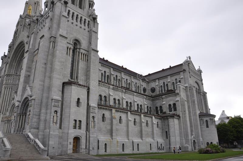 Basilikac$anne-de--c$baupregebäude von Quebec-Provinz in Kanada lizenzfreie stockbilder