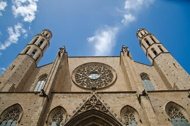 Basilikade Santa Maria del Mar stockfotografie