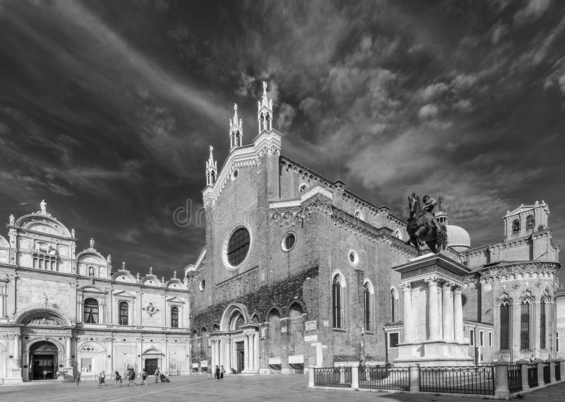 Basilikadei Santi Giovanni e Paolo, Zanipolo, Venedig, Italien royaltyfri bild