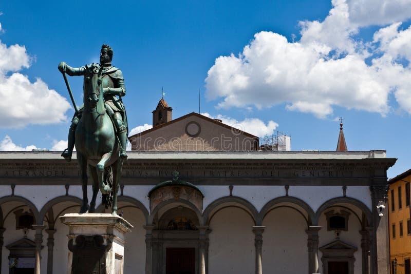 Basilikadella Santissima Annunziata, Florence, Italien arkivfoto