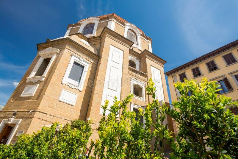 Basilikadi San Lorenzo, Florence, Italien royaltyfria foton