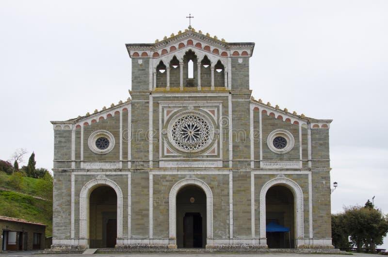 Basilikadi Santa Margherita i Cortona, Italien arkivbild